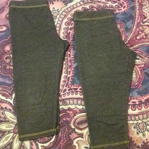2 pairs girls denim capri jeggings